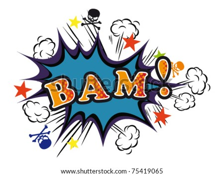 Cartoon-BAM. Vector