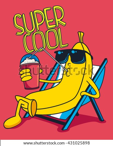 cartoon banana vector character