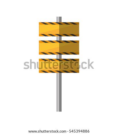 cartoon barrier under construction road vector illustration eps 10 #545394886