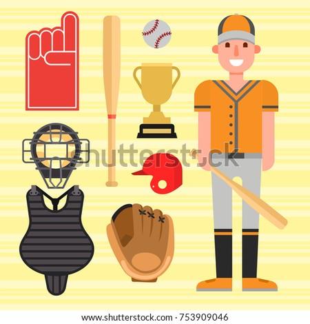 stock-vector-cartoon-baseball-player-icons-batting-vector-design-american-game-athlete-winner-sport-champion