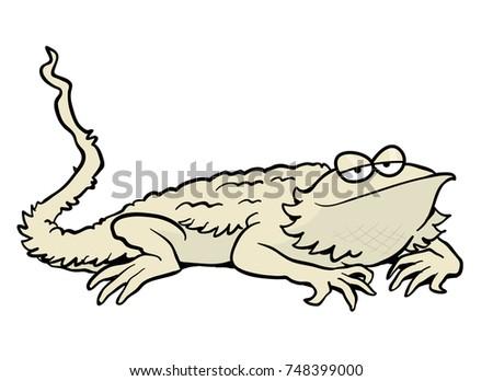 cartoon bearded dragon