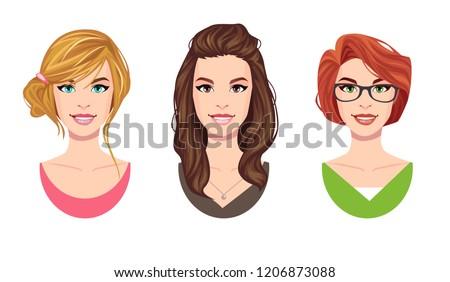 cartoon beautifull young women