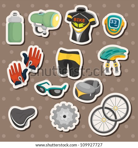 cartoon bicycle equipment stickers