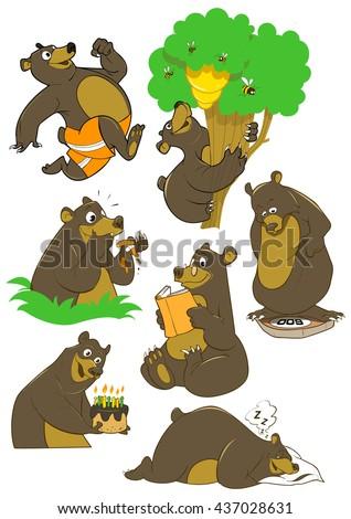 cartoon black bear friendly