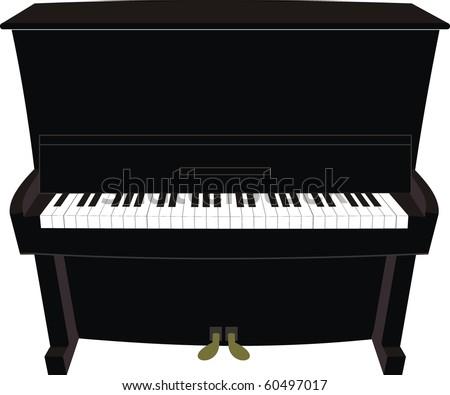 Cartoon black piano
