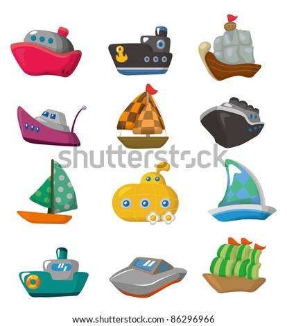 Boat Cartoon Pictures Cartoon Boat Icon