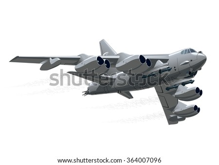 cartoon bomber b 52 long range