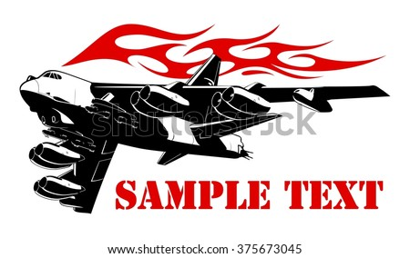 cartoon bomber vector plane