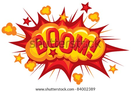 cartoon - boom (Comic book explosion)