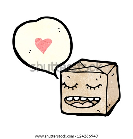 cartoon box with love heart - stock vector