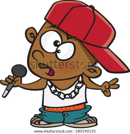 cartoon boy dressed as a rapper