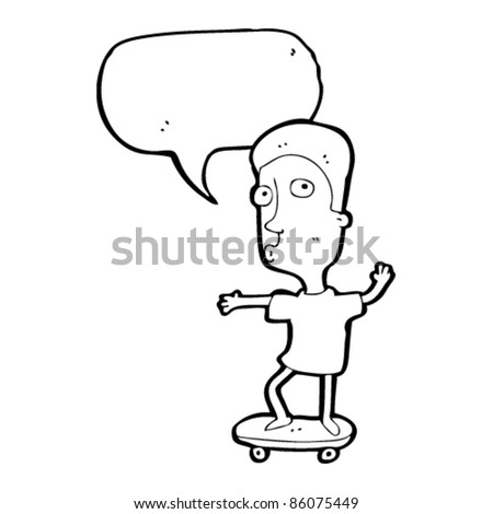 cartoon boy on skateboard