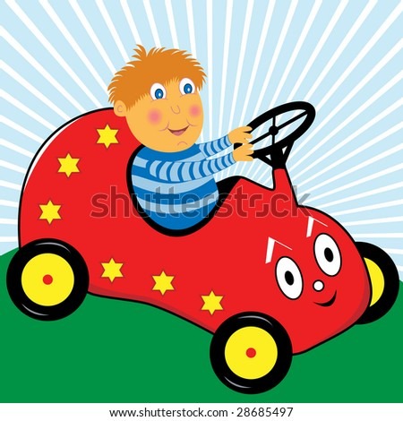 stock-vector-cartoon-boy-playing-in-a-red-toy-pedal-car-28685497.jpg