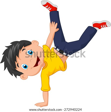 cartoon boy standing on his...