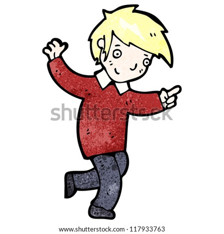 cartoon boy with positive attitude stock vector illustration 117933763 shutterstock Frog Meme Screaming Screaming Banshee