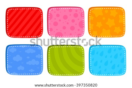 cartoon bright buttons for game or web