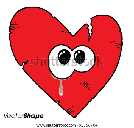 cartoon broken heart crying vector illustration ez canvas rh ezcanvas com cartoon broken heart with bandaid cartoon broken heart quotes