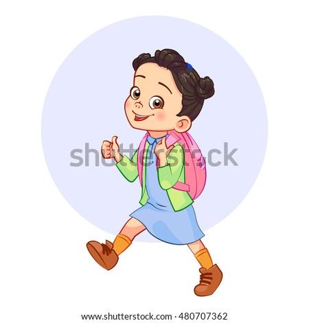 cartoon brunette girl with a