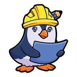 Cartoon Builder Pinguin Mascot Logo