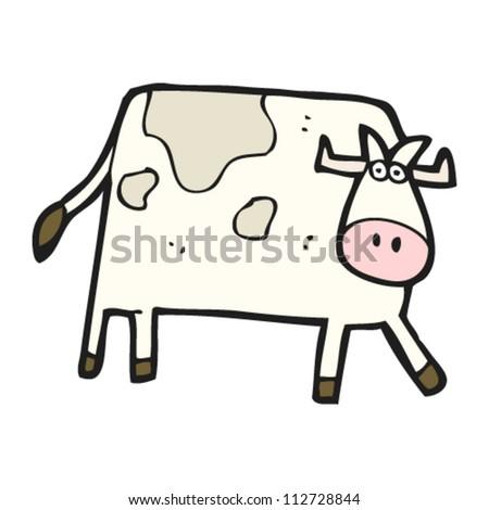 cartoon bull - stock vector