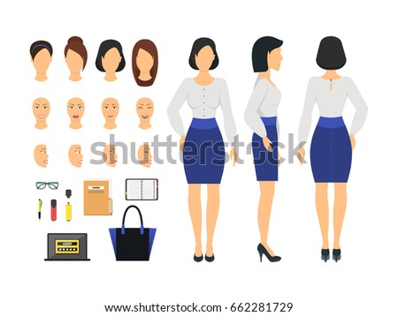 cartoon business woman and
