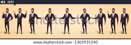 Cartoon Businessman Character Pack