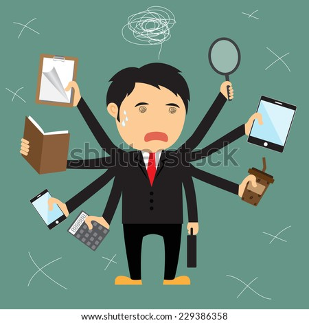 cartoon businessman error  he