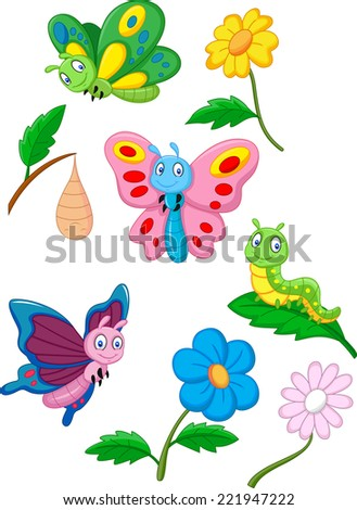 stock-vector-cartoon-butterfly-caterpillar-and-cocoon