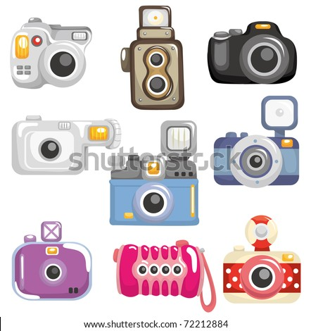 camera icons mac. cartoon camera clipart. stock