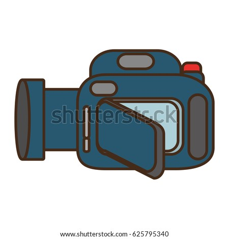 cartoon camera video icon design