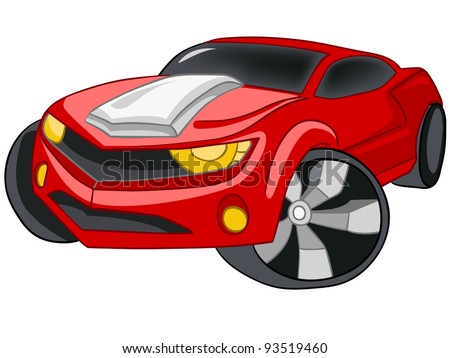 Cartoon Car Isolated on White Background. Vector EPS8.