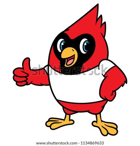 Cartoon Cardinal Bird Mascot