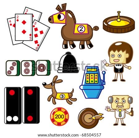 cartoon casino icon