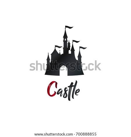 cartoon castle logo  banner