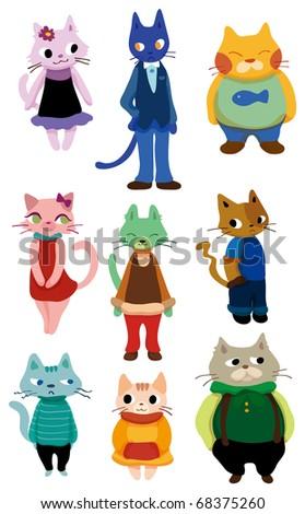 cartoon cat icon
