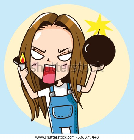 cartoon character angry cute