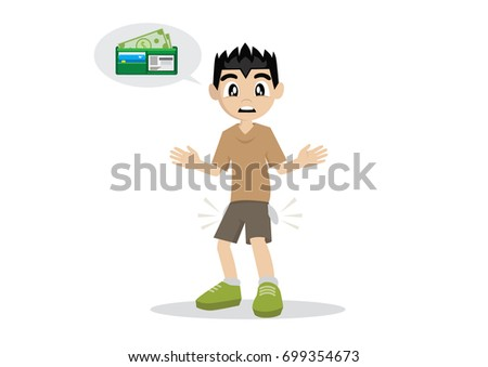 cartoon character  boy wallet