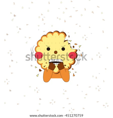 Cartoon character.Can be used like greeting or postal card.Vector cartoon illustration.Child drawing style.