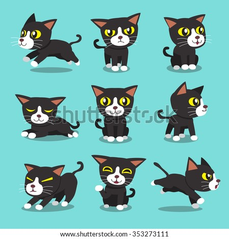 cartoon character cat poses