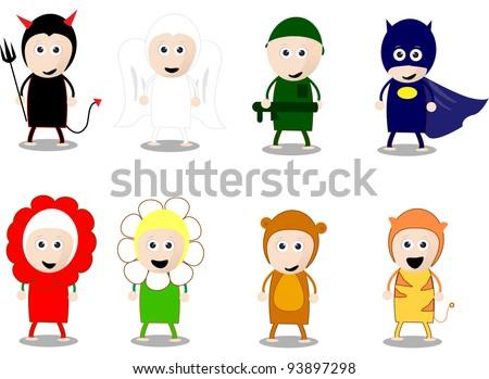 cartoon character costumes kids