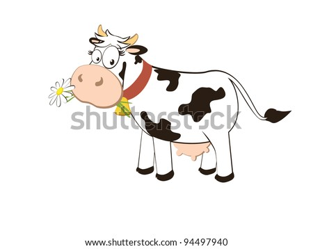 Cartoon character cow isolated on white background. vector.