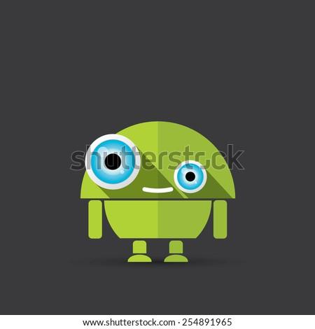 cartoon character cute robot on