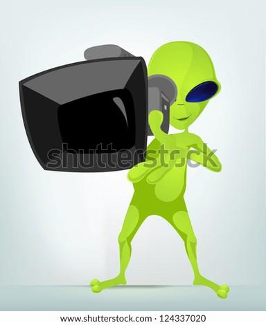 cartoon character funny alien