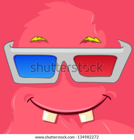 cartoon character funny monster