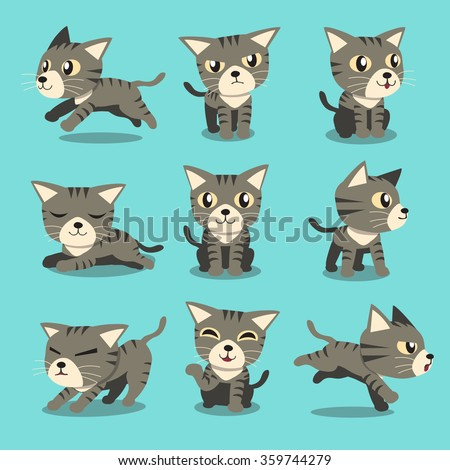 cartoon character grey tabby
