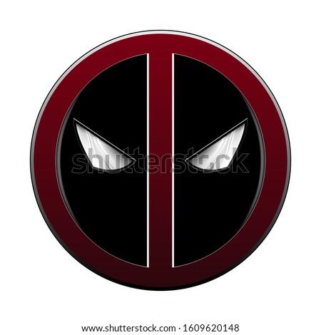 cartoon character mask icon