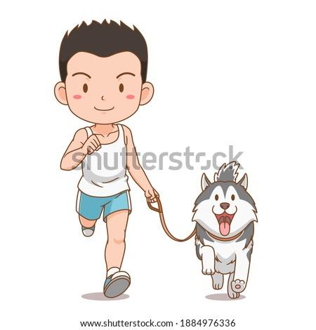 cartoon character of boy