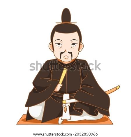 cartoon character of shogun