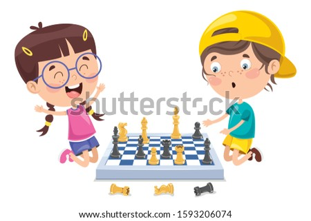 cartoon character playing chess