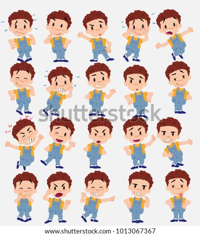 cartoon character white boy in